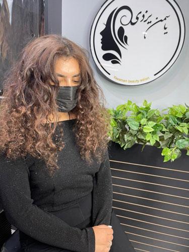 اکستنشن موی فر-یاسمن بیوتی-یاسمن یزدی-بهترین اکستنشن مو در کرج